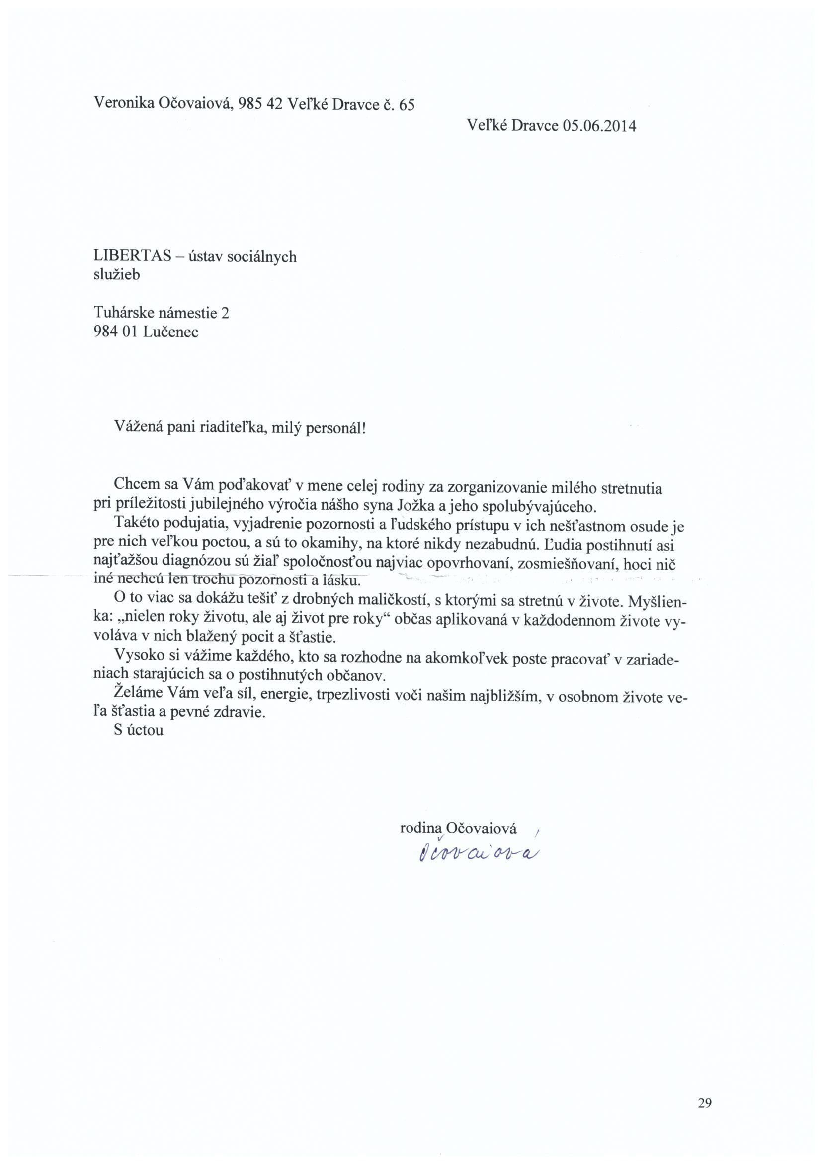 Ďakovný list